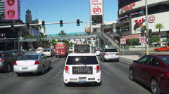 Driving on Las Vegas Blvd. POV during Daytime Frontal View from South to North - stock footage