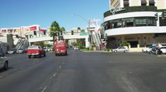 Driving on Las Vegas Blvd. POV during Daytime Frontal View from South to North Stock Footage