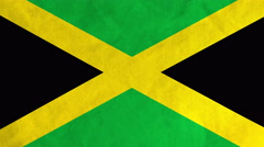Jamaican flag waving in the wind (full frame footage) Stock Footage