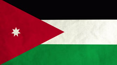 Jordanian flag waving in the wind (full frame footage) Stock Footage