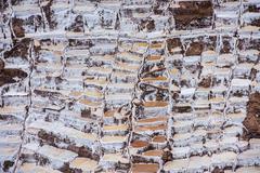 Salinas de Maras, man-made salt mines near Cusco, Peru Stock Photos