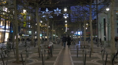 Zeil street decorated for Christmas in Frankfurt Stock Footage