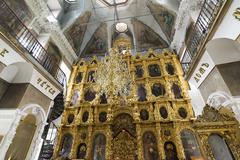 iconostasis of  Nativity Church, built in the 17th century, Landmark - stock photo