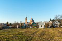 Stock Photo of Suzdal, Russia - November 06, 2015.    Museum  of Wooden Architecture in the