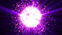 Hyper supernova or bigbang blast with lightning bolt shock wave explosion bomb 2 - stock footage