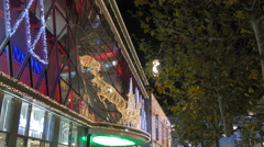 Christmas decorations on the facade of My Zeil shopping mall in Frankfurt Stock Footage