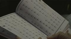 Singapore buddhist book Stock Footage
