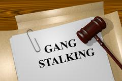Gang Stalking concept - stock illustration