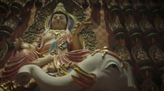 SINGAPORE BUDDHIST TEMPLE - stock footage