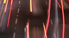 Cars moving faster trough the highway. Stock Footage