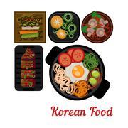 Food Illustration Korean food Vector - stock illustration