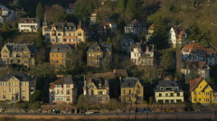 People walking along  buildings on Neuenheimer Landstraße, Heidelberg Stock Footage