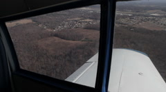 Flying In Small Plane Over Mountains Stock Footage
