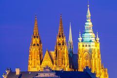 Prague. St. Vitus Cathedral. Stock Photos