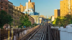 New York The Bronx borough Railway Train Day timelapse - stock footage