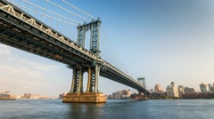 New York Manhattan bridge Moving Timelapse Day - stock footage