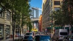New York Manhattan streets Bridge Moving timelapse Stock Footage