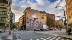 New York Manhattan graffiti Ballet dancer Timelapse Stock Footage