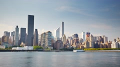 New York Manhattan View from Queens Motion Timelapse Stock Footage