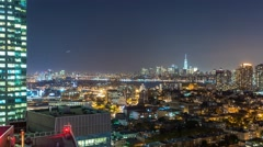New York Manhattan View from Queens Rooftop Timelapse Stock Footage
