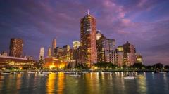 New York Manhattan quay Yacht club Timelapse - stock footage
