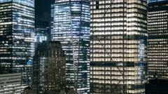 New York I love NY Manhattan night timelapse Stock Footage