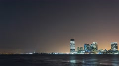 New York Manhattan quay View from boat Moving Timelapse - stock footage