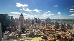 New York Manhattan Rooftop view Day Timelapse - stock footage