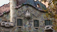 Casa Batllo Barcelona Stock Footage