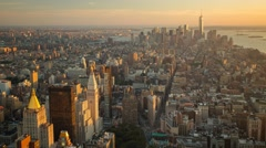 New York Manhattan sunset sky Rooftop view Timelapse Stock Footage