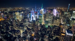 New York Manhattan Empire State building Rooftop view Timelapse Stock Footage