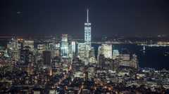 New York Manhattan lights at night Timelapse - stock footage
