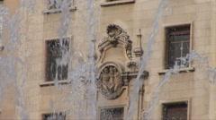 Fountain in Placa de Catalunya - stock footage
