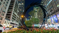 New York Manhattan street art Timelapse evening Stock Footage
