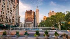 New York Manhattan street Traffic and people Timelapse Stock Footage