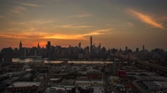 New York Queens borough Sunset timelapse Stock Footage
