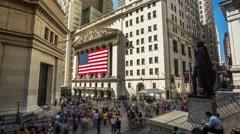 New York Wall street Timelapse - stock footage