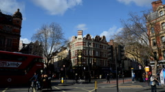 London. West End. Charing Cross Road Timelapse Stock Footage