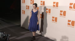 Nora Tschirner at Fashion Week Boss Orange 2009 Stock Footage