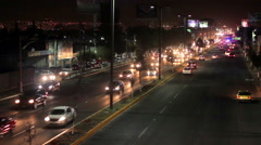 Cars moving faster trough the highway. - stock footage