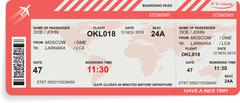 Vector illustration of airline boarding pass Stock Illustration
