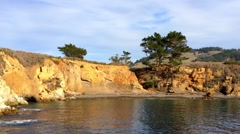 The Pacific Ocean at the Point Lobos State Natural Reserve Stock Footage