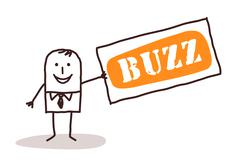 Businessman and big buzz Stock Illustration