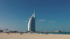 Dubai Jumeirah Beach Stock Footage