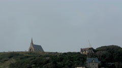 Landscape view of the village in Etretat Stock Footage