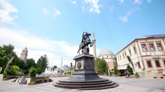 Bitola city square. Stock Footage