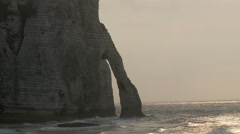 The beautiful ocean in Etretat France Stock Footage