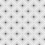Seamless geometric pattern. Optical illusion - stock illustration
