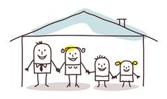 Stock Illustration of family & home