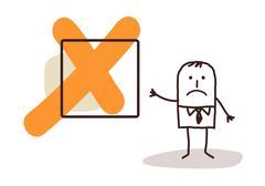 Businessman & NO sign Stock Illustration